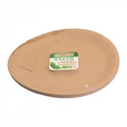 Тарелка GREEN MYSTERY d230мм, крафт, картон 12шт/уп