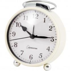 Будильник HOMESTAR HC-03 круглый белый 003794