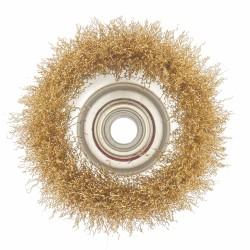Щетка для МШУ чашка 65мм волнистая латунированная сталь, Matrix 74603