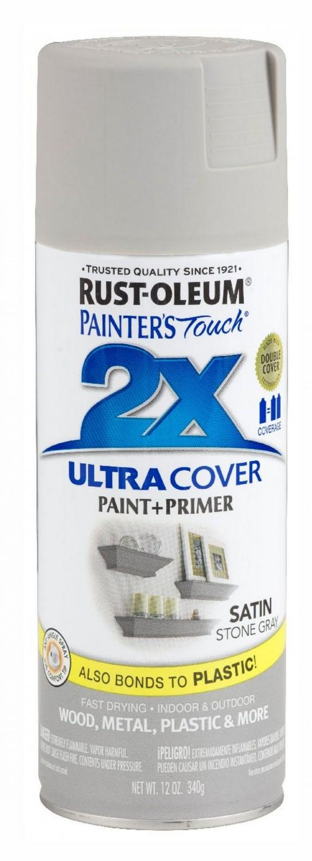 Аэрозольная эмаль Painters Touch 2X серый камень полуматовый 400мл.