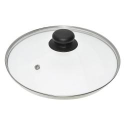 Крышка стеклянная 24см Мультидом/multidom металл.ободок ФЭ9-9