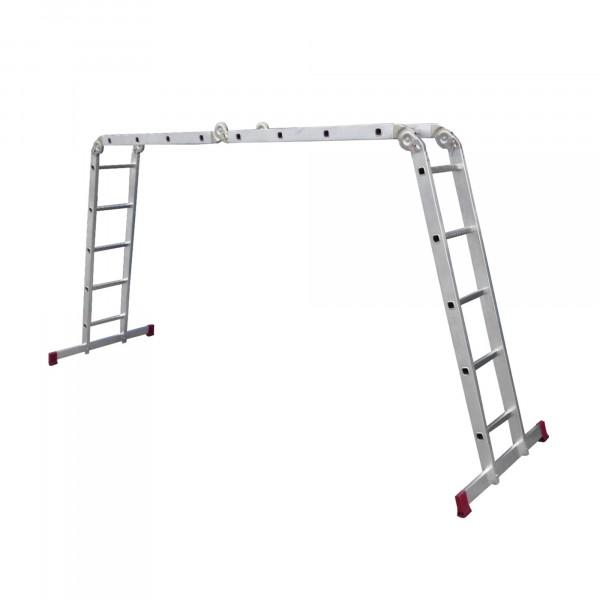 лестница-трансформер (2 секции по 5 ступеней, 2 4 ступени) макс. высота 5,2 м, 150кг, krau