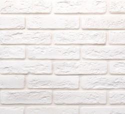 Камень интерьерный гипсовый Джерси 900 белый кирпич 18,5*4,5 (уп. 0,5 м2)