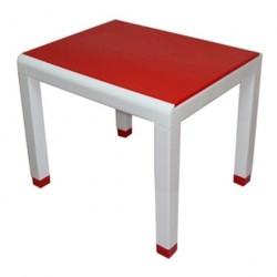 Стол детский красный (0,6*0,5*0,49)