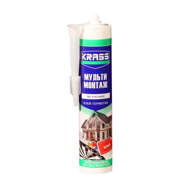 клей-герметик krass 290мл белый