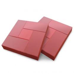 Плитка тротуарная Калифорния цвет красный, 3 х 30 х 30 см