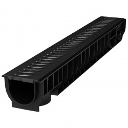 Лоток с решеткой Ecoteck STANDART 100 х 15 х 10 см черный