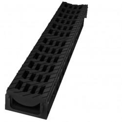 Лоток с решеткой Ecoteck MEDIUM 100 х 15 х 11 см черный