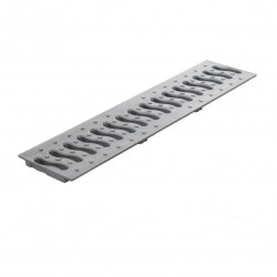 Решетка Ecoteck 49 х 13 см металлик
