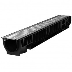 Лоток водоотводный с решеткой стальной Ecoteck STANDART 100 х 15 х 9 см