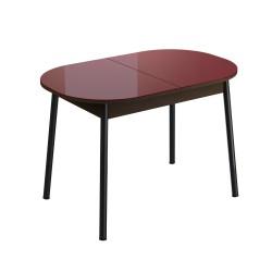 Стол обеденный раздвижной Енисей (1,1*0,7*0,75) Эмаль Венге темный JO 15M800/RAL 3004 матовая
