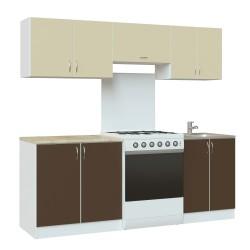Гарнитур кухонный Ольенг 2000 белый (Луино+Арабика)
