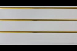 Панели ПВХ 3,0*0,24*0,008м 3-х секционные золото /Д/