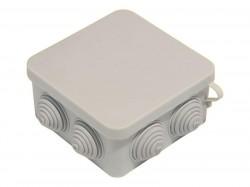 Коробка разветвит. ОП/IP55 квадратная с крышкой 400В 7 выводов 100*100*50мм инд. уп. КР2604и HEGEL