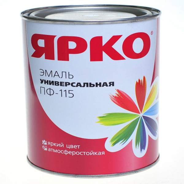 эмаль ярко пф-115 1,9кг белая /ярославль/