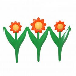 Забор декоративный Ромашка набор 5 секций желто-  оранжевый