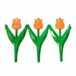 Забор декоративный Тюльпан набор 5 секций оранжевый