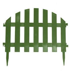 Забор декоративный Уютный сад набор 7 секций зеленый