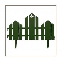 Забор декоративный Чудный сад набор 5 секций зеленый