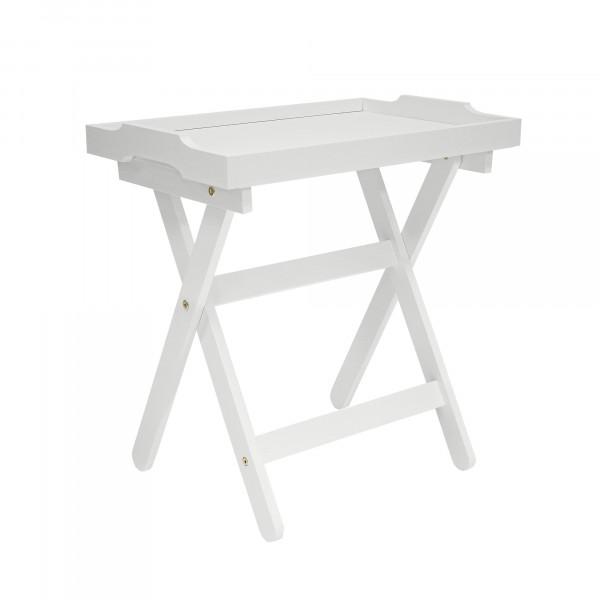 столик с подносом подкатной лотос мдф молочный дуб 1864-1457 pusha столик vision