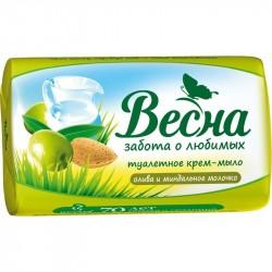 Мыло твердое ВЕСНА Ассорти Олива и миндальное молочко 90г