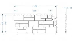 Фасадная панель Docke BURG, цвет тёмный, 0.42 м2
