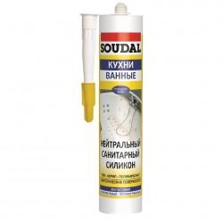 Герметик Soudal санитарный 300мл белый