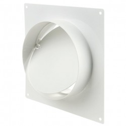 Соединитель для круглых каналов с клапаном и с пластиной 1511Р (100мм)