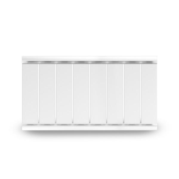 радиатор отопления алюминиевый silver в-500-8 боковое подключение, белый