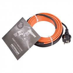 Комплект греющего, пищевого, саморегулирующегося кабеля в трубу 10HTM2-CT 6м/60Вт REXANT