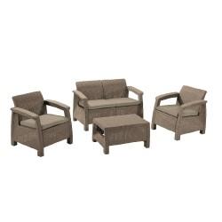 Набор мебели CORFU стол, 2 кресла, софа, стол капучино