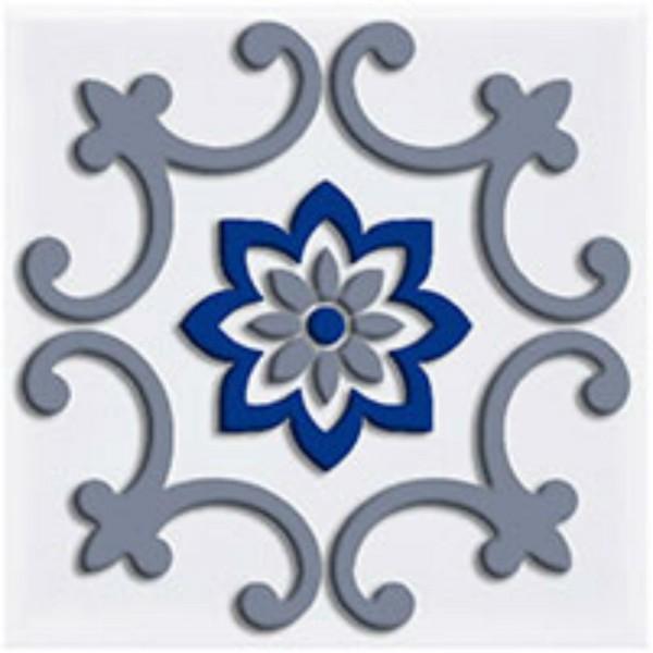 декор сиди-бу-саид серый 9,9х9,9