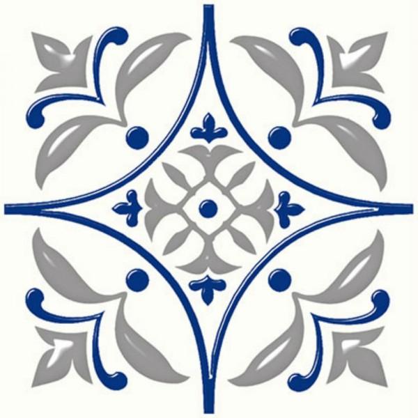 плитка настенная сиди-бу-саид синий 20х20 (0,920м2/64,24м2)
