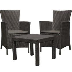 Набор мебели ROSARIO стол + 2 кресла графит