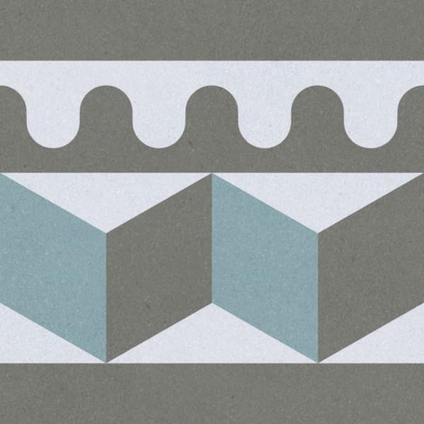 декор prima multi многоцветный pg 02 20х20 (22шт) керамический декор alta ceramica castelli ins idro canossa lux f 20х20 см