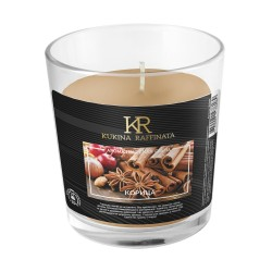 Свеча ароматическая Kukina Raffinata Корица в стакане 202873