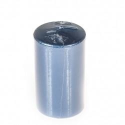 Свеча-столбик Kukina Raffinata лакированная синий с блеском 56*120мм 300101