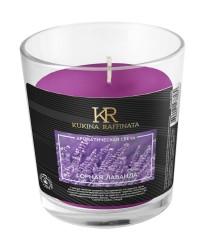 Свеча ароматическая Kukina Raffinata Горная лаванда в стакане 202932