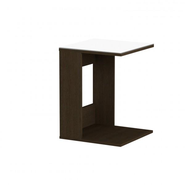 стол журнальный ls 731, 02.011 (корпус-венге,стекло-белый)