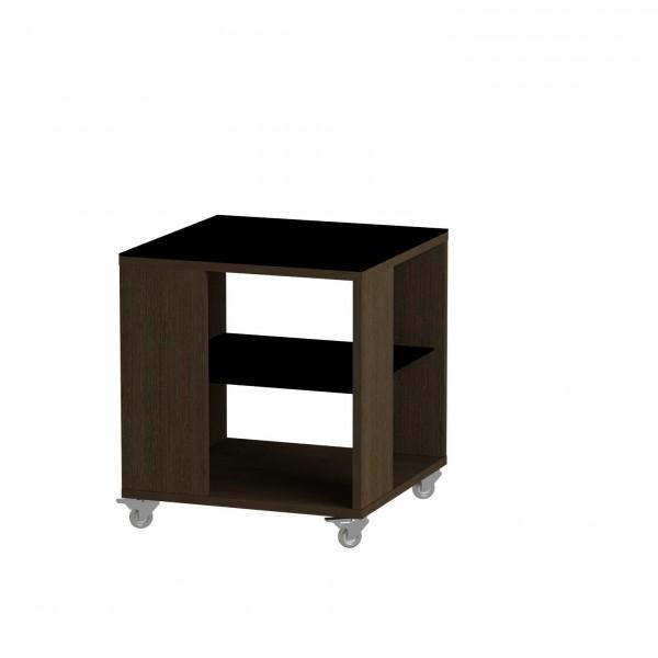 стол журнальный ls 732, 02.01 (корпус-венге,стекло-черный)