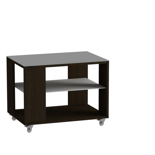 стол журнальный ls 733, 02.11 (корпус-венге,стекло-белый)