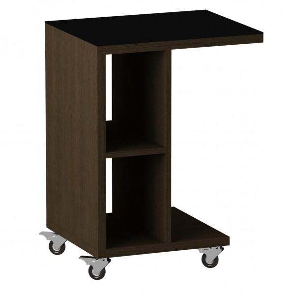 стол журнальный ls 741, 02.01 (корпус-венге,стекло-черный)