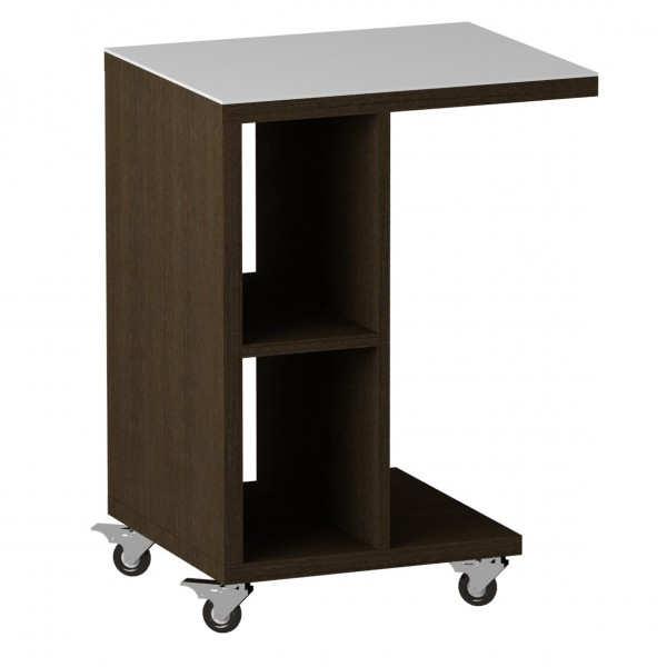 стол журнальный ls 741, 02.11 (корпус-венге,стекло-белый)