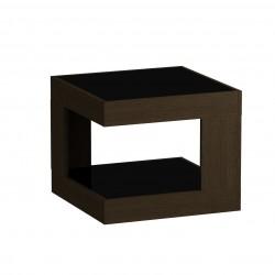 Стол журнальный LS 746, 02.01 (корпус-венге,стекло-черный)