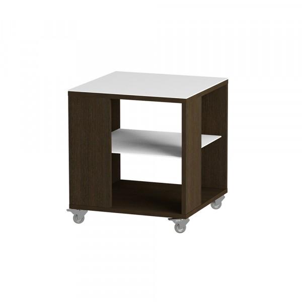 стол журнальный ls 732, 02.11 (корпус-венге,стекло-белый)