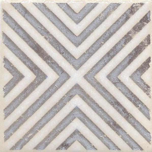 керамическая вставка 9,9х9,9 амальфи орнамент коричневый 3