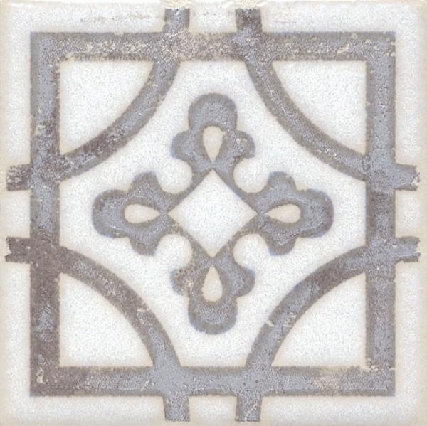 керамическая вставка 9,9х9,9 амальфи орнамент коричневый 6