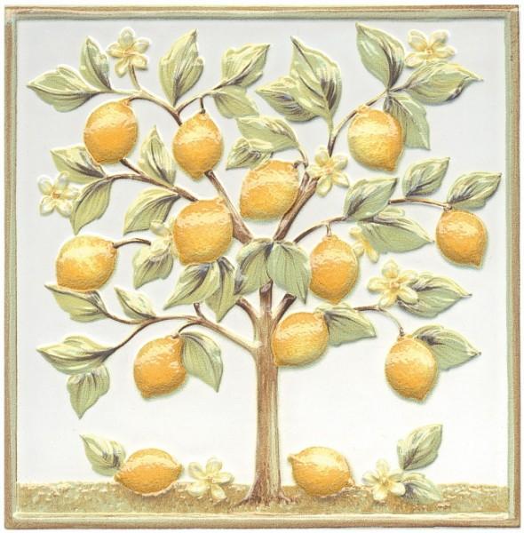 керамический декор 20х20 капри лимонное дерево керамический декор alta ceramica castelli ins idro canossa lux f 20х20 см