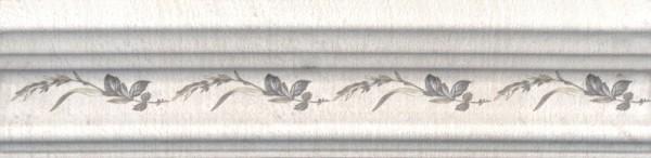 керамический бордюр 20х5 багет кантри шик белый декорированный недорого