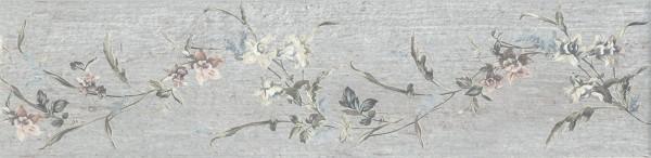 керамический гранит 9,9х40,2 кантри шик серый декорированный недорого